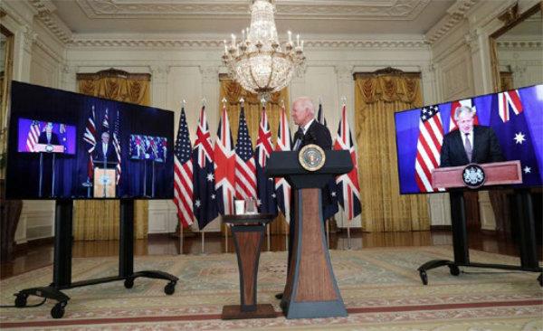 AUKUS: EEUU, UK y Australia anuncian una alianza militar y tecnológica contra China